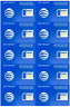 AT&T New Simcard BULK DEAL - 100 PCS (Blue and/or Orange)