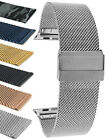 Steel Mesh Watch Band Strap for Apple Watch Band Series 5 4 3 2 1, 38 40 42 44mm