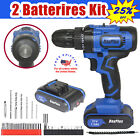 21V Max Powerful Electric Cordless Drill 2-Speed + Battery +Charger +Hammer+Case