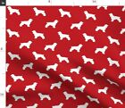 Dog Cocker Spaniel Breed Silhouette Pattern Fabric Printed by Spoonflower BTY
