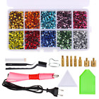 Купить Hotfix Applicator Wand Tool with 7 tips and Kit DIY  2000pcs Rhinestones Crystal