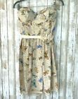 PROJECT ALABAMA Anthropologie Butterfly Embroidered Silk Sweetheart Dress 2 4 6