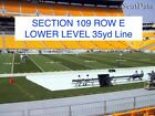 Pittsburgh Steelers vs Indianapolis Colts - 2 Tickets - Lower Level Sidelines! $549.99 USD on eBay