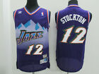 Utah Jazz #12 John Stockton Retro Purple Basketball Jersey Size: S - XXL on eBay
