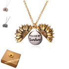 Sunflower You Are My Sunshine Necklace Children Gold Silver Gift Pendant Locket