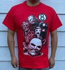 SLIPKNOT EIGHT BALL BLACK METAL RED T SHIRT $9.99 USD on eBay