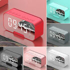 Best Digital Alarm Clock FM Radio Wireless Mirror LED Clocks With Speaker New