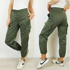 French Vintage Camo Pants / High Waisted Army Cargo Trousers - Deadstock - Green