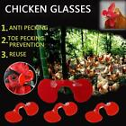 10 Plastic Peepers Kits- Home Chicken Blinders Pliers/Spectacles Red