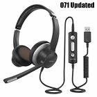 Mpow HC6 Updated 3.5mm USB Call Center Headset Driver Noise Reduction Headphones