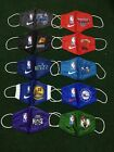 Basketball face masks- NBA- Warriors, Heat, Celtics, Suns, Jazz