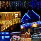 Starry Christmas Lights Curtain Icicle Light Outside House Snowing LED 13~130FT