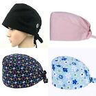 Unisex Surgical Scrub Cap Hat with Buttons Women Men Hospital Doctor Nurses USA
