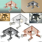 Square 4 Way Adjustable LED Ceiling Lights Spotlight Fittings Kitchen GU10 Bulbs