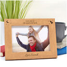 Personalised Love You DADDY DAD GRANDAD Birthday ENGRAVED Photo Frame Gifts