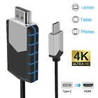 USB Type-C to HDMI 4K HDTV TV Cable Adapter High Speed For Mobile Phone Computer