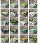 Ambesonne Green Print Flat Sheet Top Sheet Decorative Bedding 6 Sizes