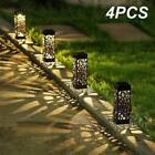 4pcs Solar Powered Garden Post Lights Waterproof LED Outdoor Patio Yard Lawn