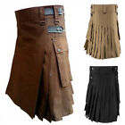 Medieval Men Scottish Traditional Highland Check Pleated Skirt Roman Kilts Dress