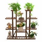 Small Medium Large Multi Tier Tiered Plant Stand Carbonized Shelf Holder Flower