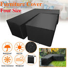 Waterproof Garden Rattan Corner Furniture Cover Outdoor Sofa L Shape Multisize