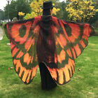 197*125cm Fashion Butterfly Wing Beach Towel Shawl Cape Printed Wrap Skirt