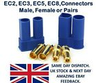 EC2 EC3 EC5 EC8 Connectors Male Female Pairs Plugs Socket lipo Battery ESC RC UK