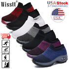 Kyпить Womens Sport Air Cushion Sneakers Breathable Walking Slip-On Running Sock Shoes на еВаy.соm