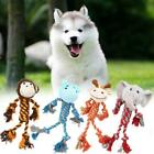 Pet Dog Puppy Chew Rope Toys Plush Squeaky Sound Teeth Cleaning