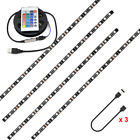 USB Power LED Strip Lights 5050 RGB TV Backlight Lighting Remote Control New UK