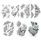 Womens Removable Waterproof Temporary Flower Tattoo Stickers Legs Art Arm A6f4