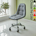 Cushioned Computer PC Desk Office Chair Quilted Dressing Adjustable Lift Swivel