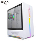 Aigo Gaming ATX Computer Case with 120mm LED Rainbow Fan