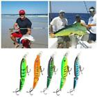Lot Double Section Bionic Fishing Lure Crank Bait Tackle Durable Hook Bass X7p4