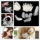 100pcs Natural Goose Feathers 6-12cm Swan Plume Diy Decoration Craft D3s1