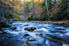 Photography Print of Laurel Creek on Autumn Day in Great Smoky Mountains