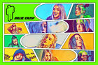 Billie Eilish Comic Strip Art Print (Available In 4 Formats)