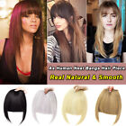Thick Clip In Bangs Hair Pieces Neat Front Fringe Hair Extensions as Human Short