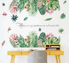 Tropical Leaves Plant Flower Wall Sticker Art Home Decor Office Decal Mural