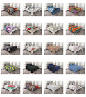 Coverlet Set with Shams Decor Quilted Bed Cover Bedspread by Ambesonne