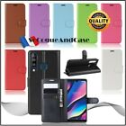 Case Cover Litchi Leather PU Leather Stand Wallet Case Cover Wiko View 3