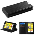 For Nokia Lumia 520 Hybrid Leather Wallet Clip Card Pouch Stand Phone Case Cover