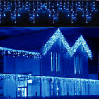 13-130FT LED Christmas Fairy Icicle Home Curtain Lights Lamp Xmas Indoor Outdoor