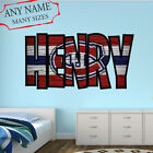 Montreal Canadiens Wall Decal Art Custom Name Sticker Hockey Kids Mural NL14 $36.95 USD on eBay