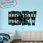 San Jose Sharks Wall Decal Art Custom Name Sticker Hockey Kids Mural NL23 $67.95 USD on eBay