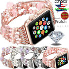 Bling Agate Beads Strap Bracelet Band Apple Watch Series 5 4 3 2 1 42mm 44mm image