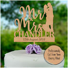 Bride and Groom Cake Toppers PERSONALISED Mr and Mrs Wedding Cake Decorations
