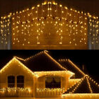 96-960LED Christmas Curtain Icicle Light Wedding Fairy Indoor Outdoor Decoration