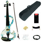 Kinglos Full Size 4/4 Colored Solid Wood Intermediate-A Electric / Silent Violin