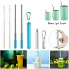 Reusable Telescopic Straw Stainless Steel Collapsible Portable Drinking Travel